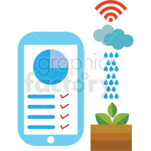 clipart - agriculture mobile climate control system vector icon.