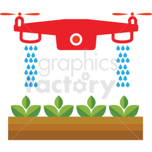agriculture drone watering system vector icon clipart. Commercial use image # 410623