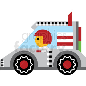 cartoon race car vector icon