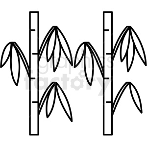 bamboo vector icon clipart. Commercial use image # 410693