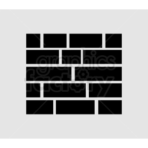 vector brick wall icon design clipart. Royalty-free image # 410717