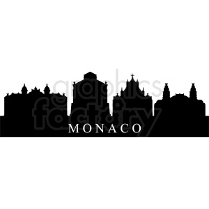 vector monaco city buildings clipart. Commercial use image # 410730