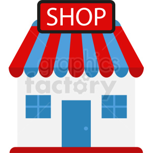 storefront vector clipart clipart. Commercial use image # 410755