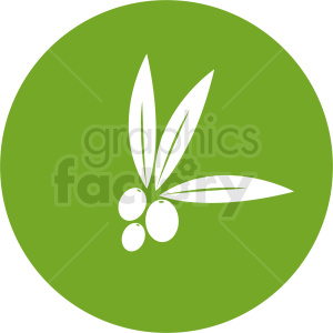 olive design on green clipart. Royalty-free image # 410800