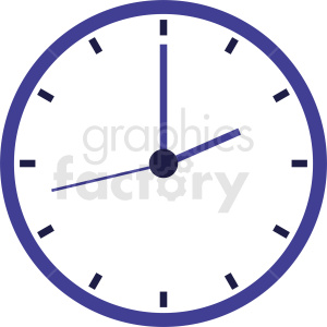 wall clock with purple border clipart. Royalty-free icon # 410827
