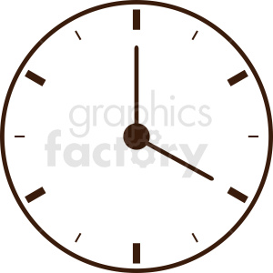 wall clock outline clipart. Commercial use image # 410842