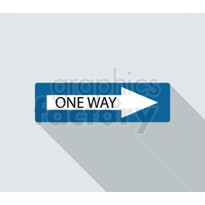 one way sign vector icon clipart. Commercial use image # 410855