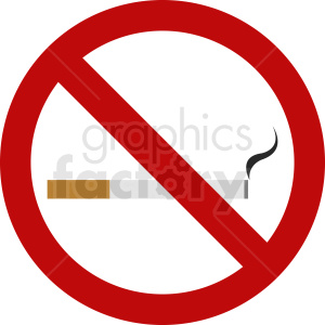 no smoking cigarettes vector icon clipart. Royalty-free image # 410857