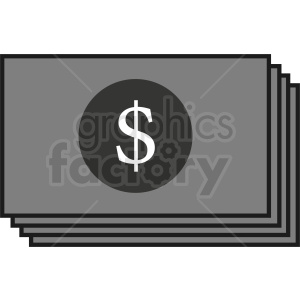 stack of money vector icon clipart. Commercial use image # 410897