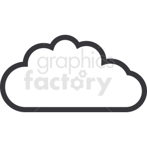 vector cloud outline clipart. Commercial use image # 410944