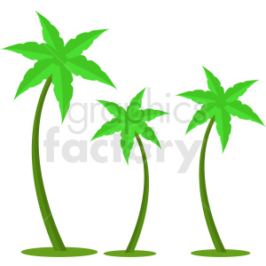 vector palm trees design clipart. Commercial use image # 410981