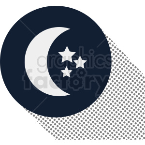 moon on circle vector icon clipart. Commercial use image # 410982
