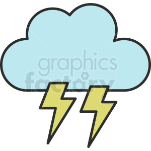 lightning vector clipart clipart. Commercial use image # 410985