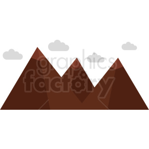 mountain with clouds vector icon no background clipart. Commercial use image # 410992