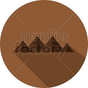 mountain clipart on brown circle background clipart. Commercial use image # 410993