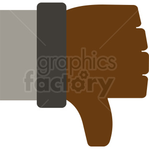 african american thumbs down icon clipart. Commercial use image # 410996