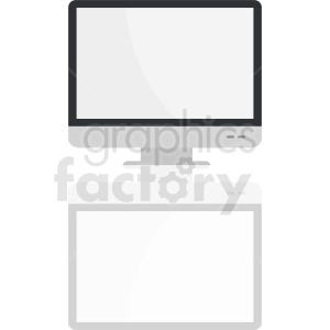 computer monitor with shadow vector clipart clipart. Royalty-free image # 411014