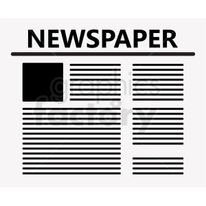 newspaper vector graphic clipart. Commercial use image # 411033