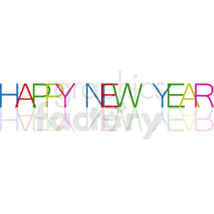 happy new year vector clipart clipart. Royalty-free image # 411053