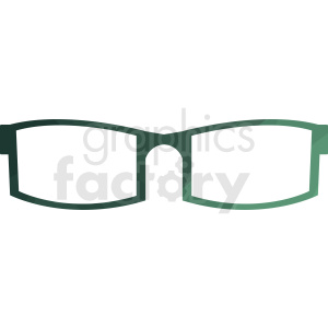 green sunglasses vector clipart clipart. Royalty-free image # 411058