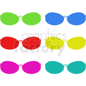 colorful sunglasses vector clipart design clipart. Royalty-free icon # 411067