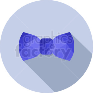blue bow tie vector clipart on circle background clipart. Commercial use image # 411071