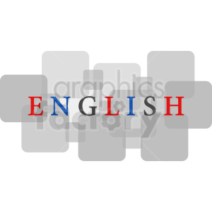 English text with gray squares vector clipart clipart. Royalty-free image # 411113