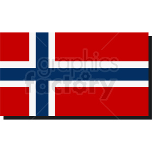 Norway flag vector icon clipart. Royalty-free image # 411125