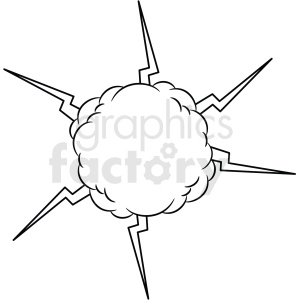 doodle notes elements energy cloud clipart. Commercial use image # 411135