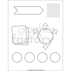 doodle notes printable blank page clipart. Commercial use image # 411143