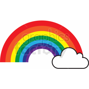 rainbow cut file clipart. Commercial use image # 411166