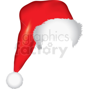 santa hat overlay vector clipart clipart. Commercial use image # 411177