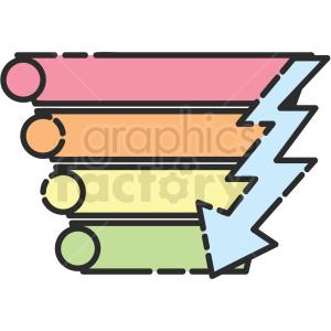 pyramid diagram vector icon