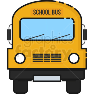 School Bus vector clipart icon