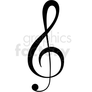 treble clef vector image clipart. Commercial use icon # 411252