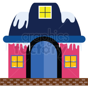frozen house flat vector icon clipart. Commercial use image # 411264