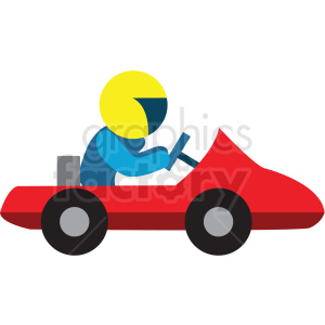 cart racer flat vector icon clipart. Commercial use image # 411274