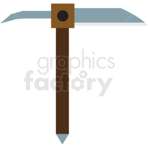 ice axe flat vector icon clipart. Royalty-free image # 411276