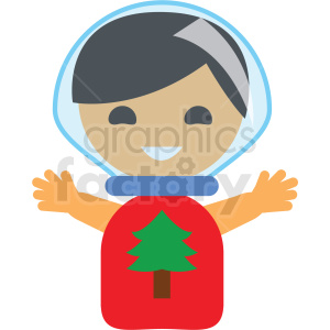 christmas snowglobe avatar girl vector icon clipart. Royalty-free icon # 411350
