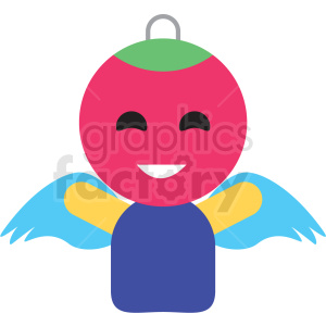 christmas avatar person vector icon clipart. Royalty-free image # 411352