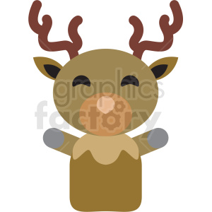 christmas avatar reindeer vector icon