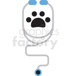 cartoon animal stethoscope vector clipart clipart. Royalty-free image # 411380