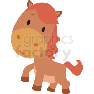 baby cartoon horse vector clipart clipart. Commercial use image # 411382