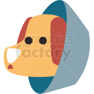 cartoon dog with cone collar vector clipart clipart. Royalty-free image # 411386