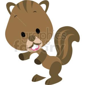 baby cartoon beaver vector clipart