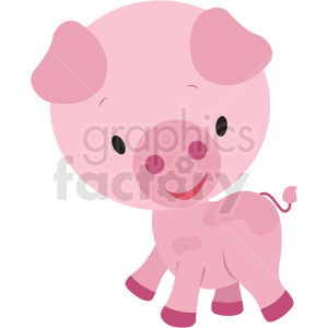 baby cartoon pig vector clipart clipart. Commercial use image # 411406