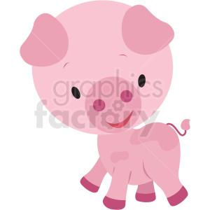 baby cartoon pig vector clipart