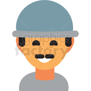 man wearing hat avatar icon vector clipart clipart. Commercial use image # 411504