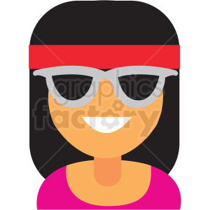 female with headband avatar icon vector clipart clipart. Commercial use image # 411514