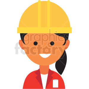 female architect icon vector clipart